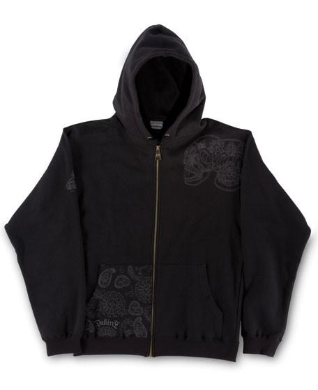 Dakine 3 Skulls Zip Hoodie Sweatshirt / Pullover Black Size S