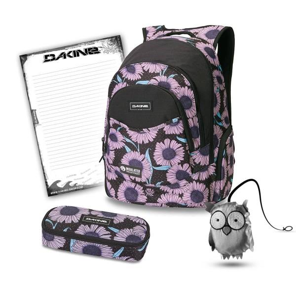 Dakine Prom 25L + School Case + Emma + Block Schulset Nightflower