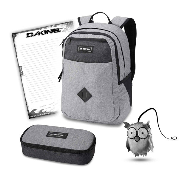 Dakine Essentials Pack 26L + School Case XL + Emma + Block Schulset Greyscale