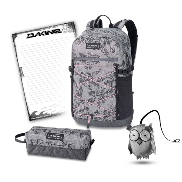 Dakine WNDR Pack 25L + Accessory Case + Emma + Block Schulset Azalea