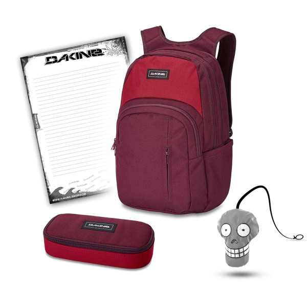 Dakine Campus Premium 28L + School Case + Harry + Block Schulset Garnet Shadow