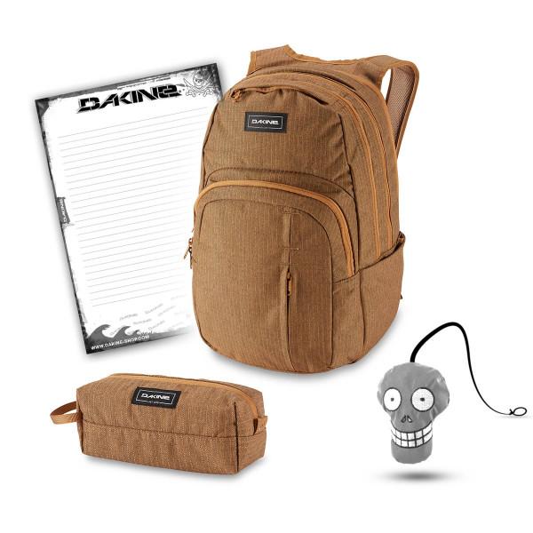 Dakine Campus Premium 28L + Accessory Case + Harry + Block Schulset Caramel