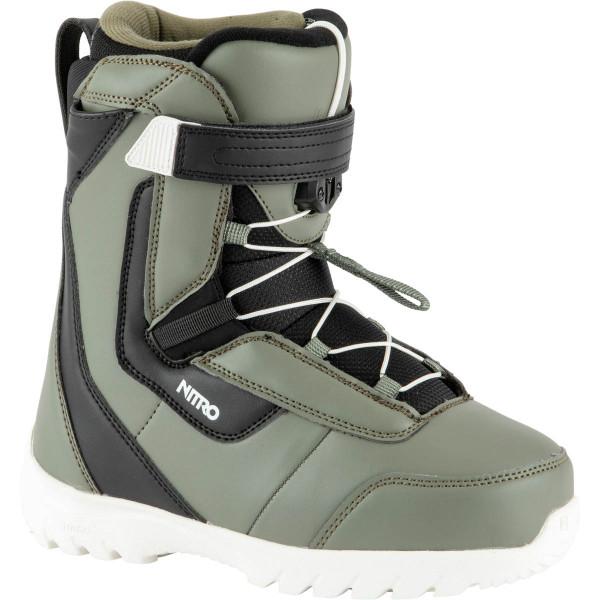 Nitro Droid Qls Boot 21 Snowboard Boots Charcoal-Blk-Wht