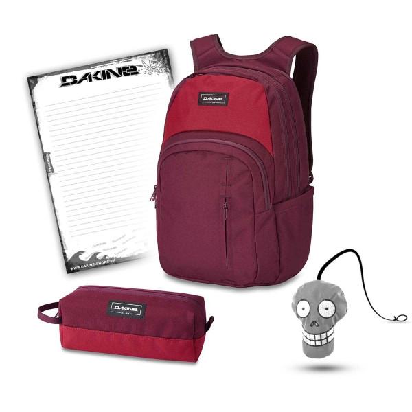 Dakine Campus Premium 28L + Accessory Case + Harry + Block Schulset Garnet Shado