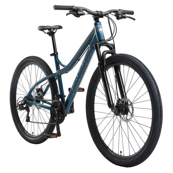 BIKESTAR Mountainbike Shimano, 21 Gang, Scheibenbremse, 18 Zoll Rahmen, Blau/Grau