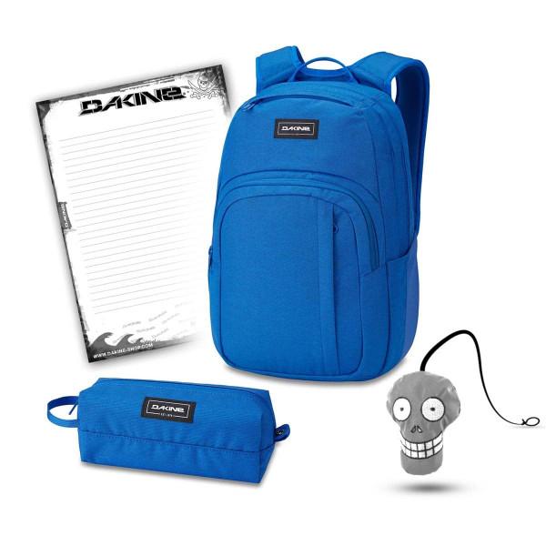 Dakine Campus M 25L + Accessory Case + Harry + Block Schulset Cobalt Blue