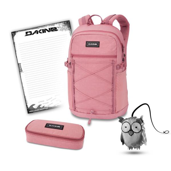Dakine WNDR Pack 25L + School Case + Emma + Block Schulset Faded Grape