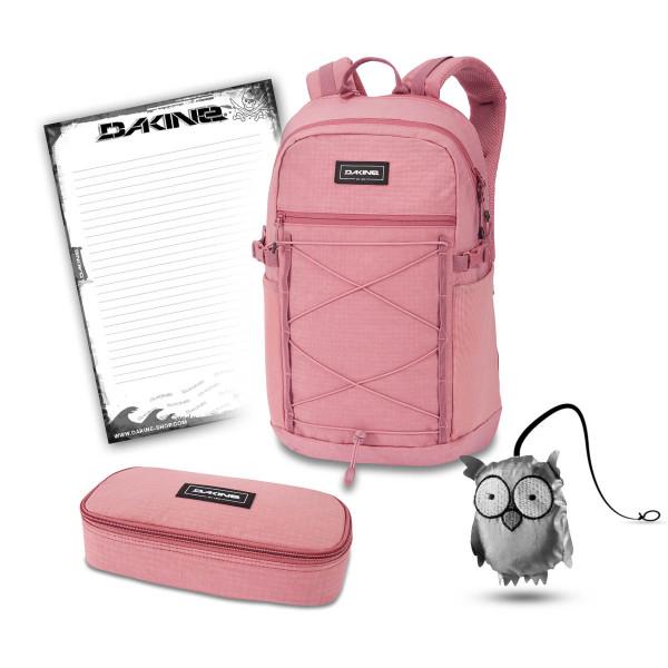 Dakine WNDR Pack 25L + School Case XL + Emma + Block Schulset Faded Grape