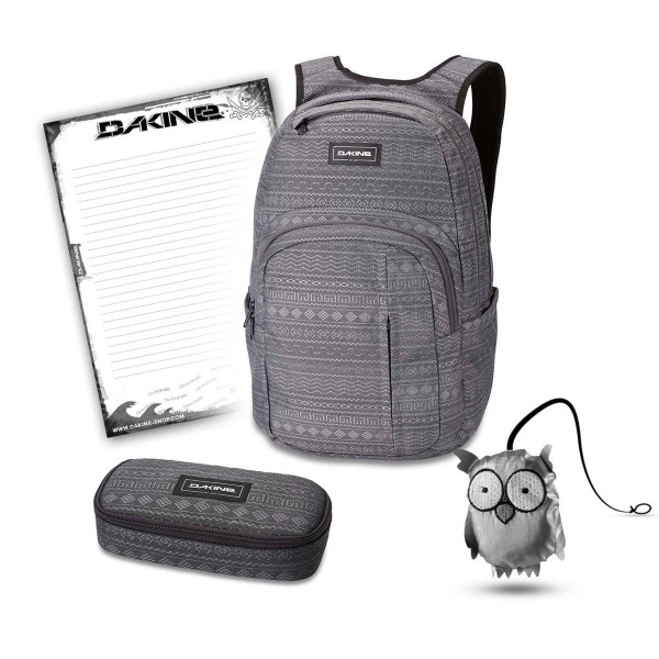Dakine Campus Premium 28L + School Case + Emma + Block Schulset Jungle Palm
