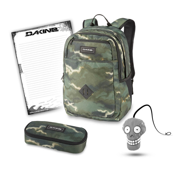 Dakine Essentials Pack 26L + School Case + Harry + Block Schulset Olive Ashcroft Camo
