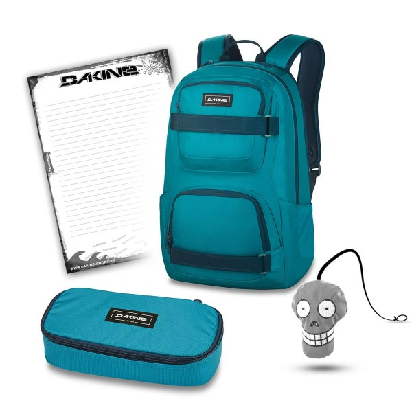 Dakine Duel 26L + School Case XL + Harry + Block Schulset Seaford