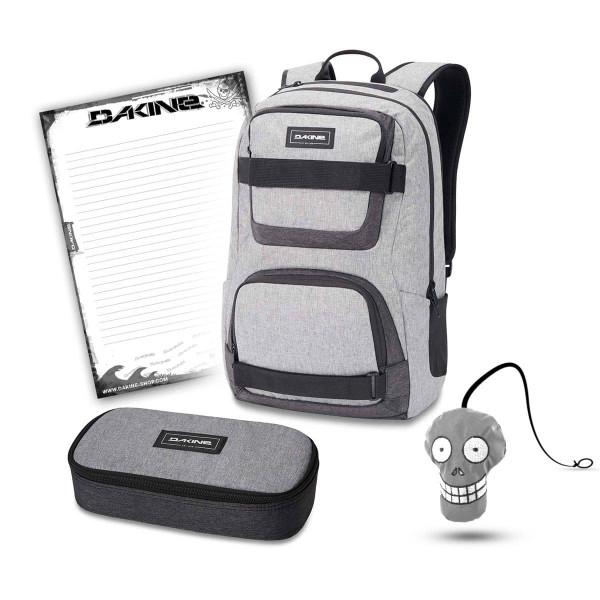 Dakine Duel 26L + School Case XL + Harry + Block Schulset Greyscale