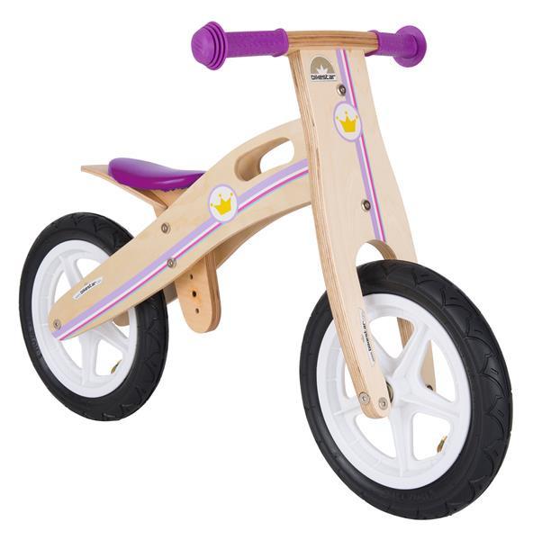 BIKESTAR Kinder Laufrad Holz Prinzessin ab 3 Jahre - 12 Zoll