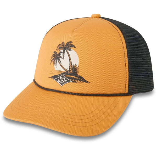 Dakine Island Palms Trucker Damen Cap Golden Glow