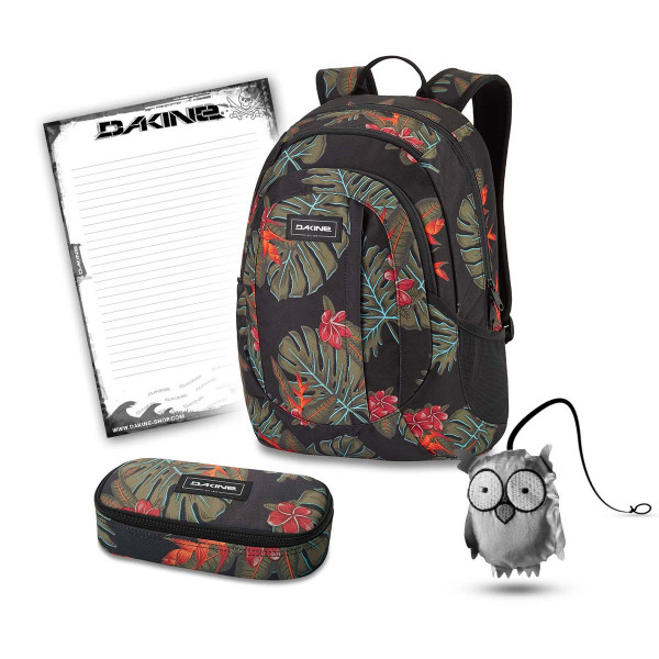 Dakine Garden 20L + School Case + Emma + Block Schulset Jungle Palm