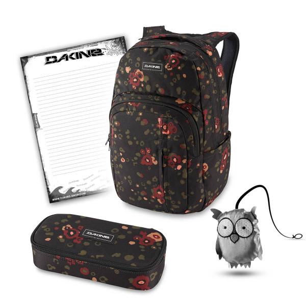 Dakine Campus Premium 28L + School Case XL + Emma + Block Schulset Begonia